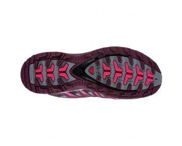 Chaussure Salomon XA PRO 3D CS WP W pour Femme Bordeaux/Rose/Noir Chaussures De Randonnée 379275