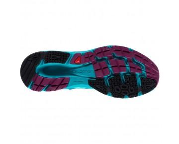 Chaussure Salomon SONIC AERO W pour Femme Turquoise/Bleu-foncé Chaussures De Running 379539