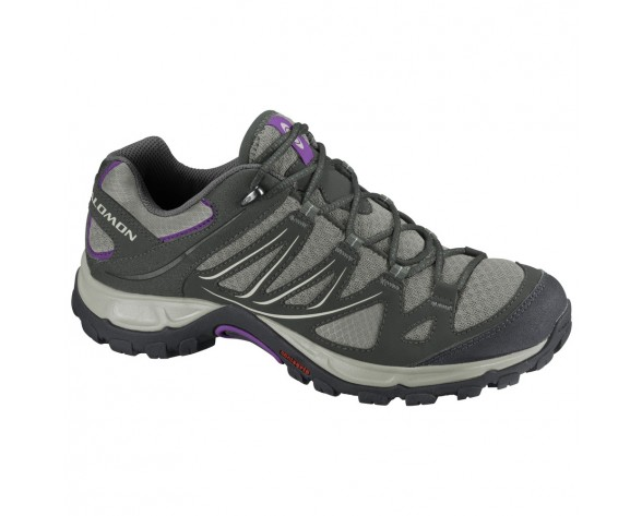 Chaussure Salomon ELLIPSE AERO W pour Femme Gris/Noir/Violet Chaussures De Randonnée 329780