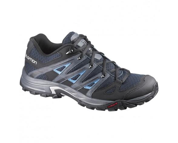 Chaussure Salomon ESKAPE AERO pour Homme Noir/Bleu-foncé Chaussures De Randonnée 370740