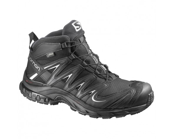 Chaussure Salomon XA PRO MID GTX® W pour Femme Noir/Argent Chaussures De Randonnée 371302