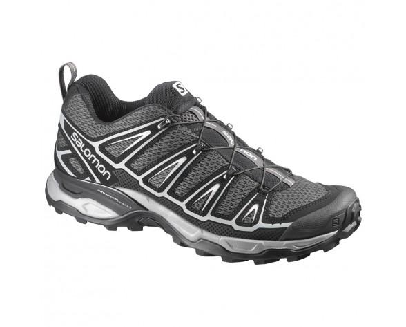 Chaussure Salomon X ULTRA 2 pour Homme Noir/Argent/Gris Chaussures De Randonnée 371627