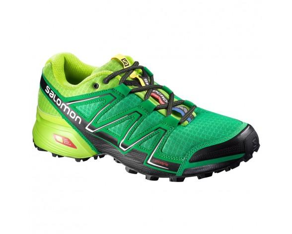 Chaussure Salomon SPEEDCROSS VARIO pour Homme Vert/Jaune Chaussures De Running 379077