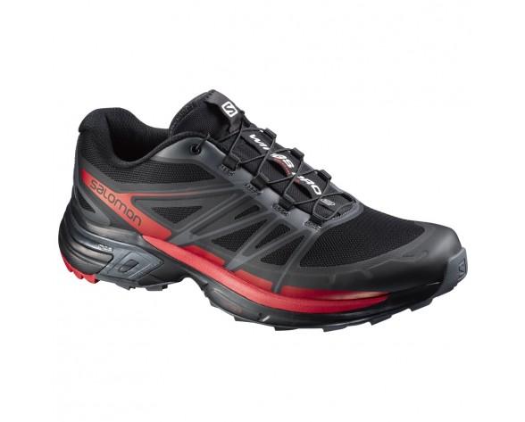 Chaussure Salomon WINGS PRO 2 pour Homme Noir/Rouge Chaussures De Running 379083