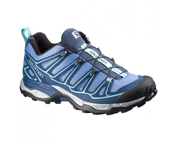 Chaussure Salomon X ULTRA 2 W pour Femme Noir/Bleu Chaussures De Randonnée 379288