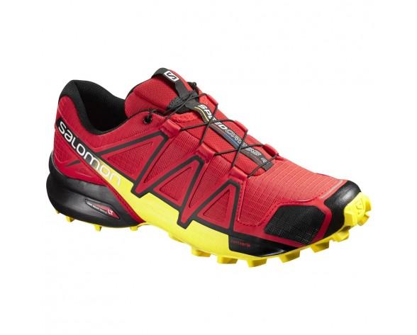 Chaussure Salomon SPEEDCROSS 4 pour Homme Rouge/Jaune/Noir Chaussures De Running 381154