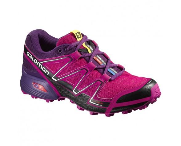 Chaussure Salomon SPEEDCROSS VARIO W pour Femme Rose/Violet/Noir Chaussures De Running 383106