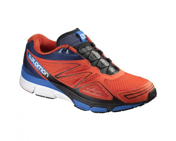 Chaussure Salomon X-SCREAM 3D pour Homme Rouge/Noir/Bleu Chaussures De Running 383112