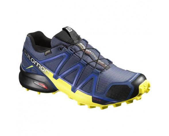 Chaussure Salomon SPEEDCROSS 4 GTX® pour Homme Bleu-foncé/Jaune Chaussures De Running 383118