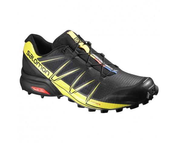 Chaussure Salomon SPEEDCROSS PRO pour Homme Anthracite/Jaune Chaussures De Running 383122