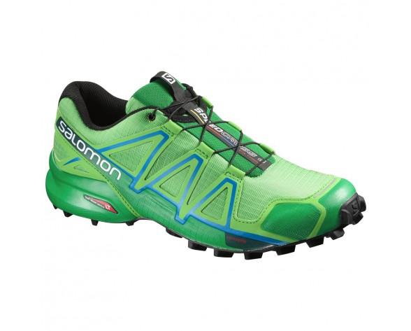 Chaussure Salomon SPEEDCROSS 4 pour Homme Vert-citron Chaussures De Running 383141