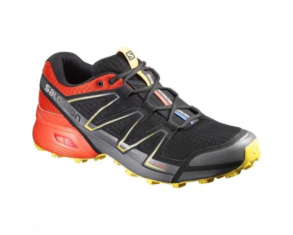 Chaussure Salomon SPEEDCROSS VARIO pour Homme Noir/Rouge Chaussures De Running 383142