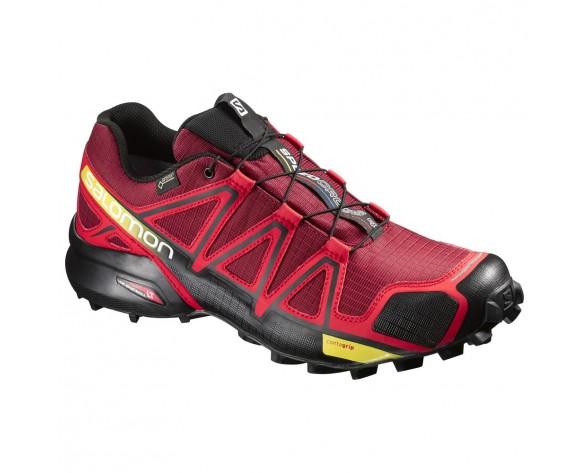 Chaussure Salomon SPEEDCROSS 4 GTX® pour Homme Rouge/Noir Chaussures De Running 383150