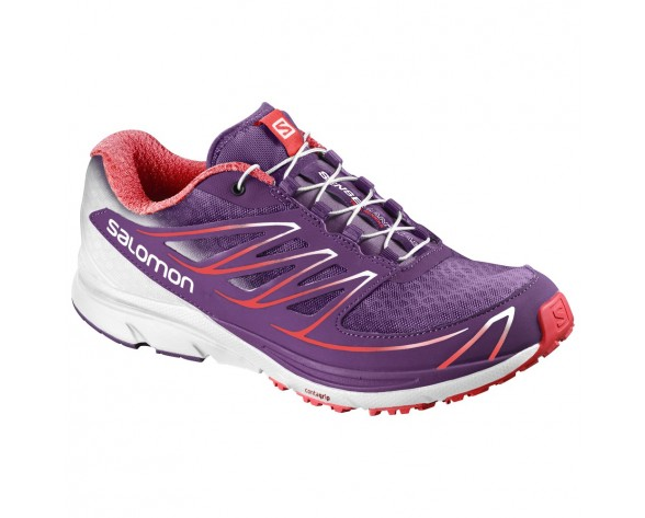 Chaussure Salomon SENSE MANTRA 3 W pour Femme Violet/Rouge/Blanc Chaussures De Running 390134