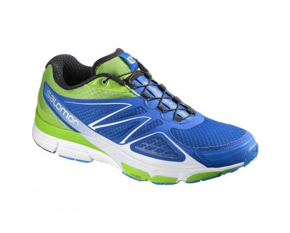 Chaussure Salomon X-SCREAM 3D pour Homme Bleu/Vert/Blanc Chaussures De Running 390276