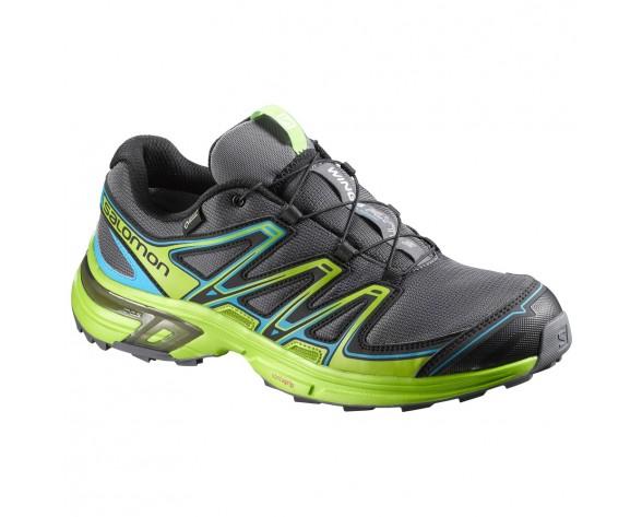 Chaussure Salomon WINGS FLYTE 2 GTX® pour Homme Anthracite/Vert Chaussures De Running 390303