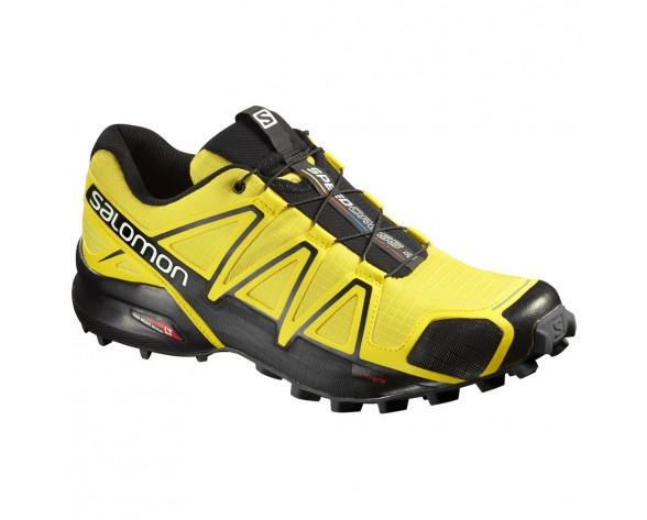 Chaussure Salomon SPEEDCROSS 4 pour Homme Jaune/Noir Chaussures De Running 390616