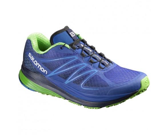 Chaussure Salomon SENSE PROPULSE pour Homme Bleu/Vert/Noir Chaussures De Running 390689