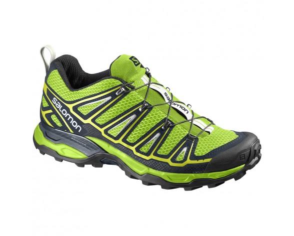 Chaussure Salomon X ULTRA 2 pour Homme Jaune Vert Noir Chaussures De Randonnée 391842
