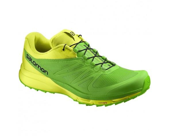 Chaussure Salomon SENSE PRO 2 pour Homme Jaune/Vert Chaussures De Running 391863