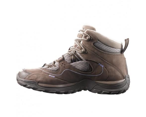 Chaussure Salomon ELIOS MID GTX 3 W pour Femme Marron Chaussures De Randonnée 391876