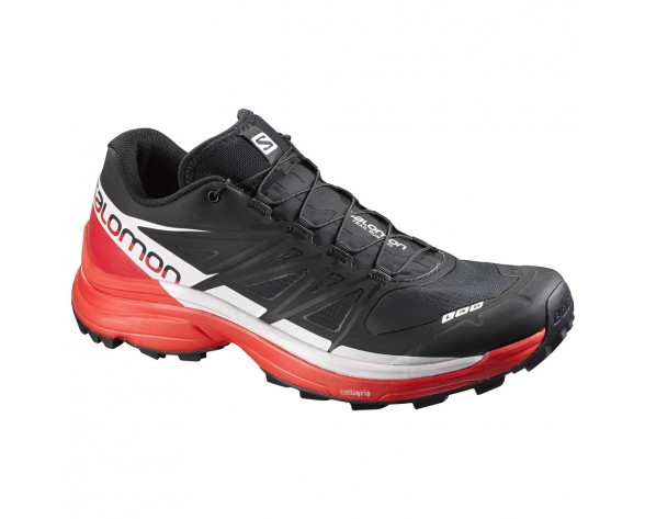 Chaussure Salomon S-LAB WINGS 8 SG pour Femme Noir/Rouge/Blanc Chaussures De Running 391959_02