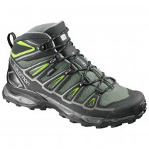 Chaussure Salomon X ULTRA MID 2 GTX® pour Homme Noir/Argent/DarkMer-Vert Chaussures De Randonnée 371032