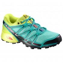 Chaussure Salomon SPEEDCROSS VARIO W pour Femme Cyan/Jaune/Noir Chaussures De Running 379055
