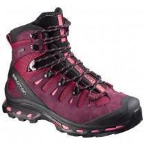 Chaussure Salomon QUEST 4D 2 GTX® W pour Femme Bordeaux/Noir Chaussures De Randonnée 379435