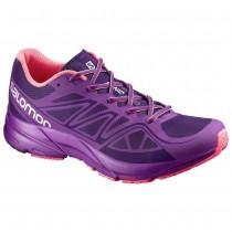 Chaussure Salomon SONIC AERO W pour Femme Violet Chaussures De Running 381558