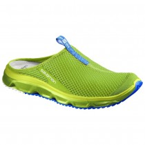 Chaussure Salomon RX SLIDE 3.0 pour Homme Vert-jaunâtre Chaussures De Running 381606