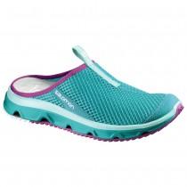 Chaussure Salomon RX SLIDE 3.0 W pour Femme Turquoise/Violet Chaussures De Running 381613
