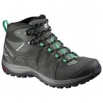 Chaussure Salomon ELLIPSE 2 MID LTR GTX® W pour Femme Noir/Vert Chaussures De Randonnée 381627