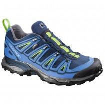 Chaussure Salomon X ULTRA 2 GTX® pour Homme Bleu-foncé/Argent/Vert Chaussures De Randonnée 381636