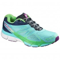 Chaussure Salomon X-SCREAM 3D W pour Femme Turquoise/Bleu-foncé/Vert Chaussures De Running 383073