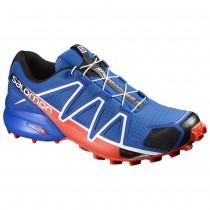 Chaussure Salomon SPEEDCROSS 4 pour Homme Bleu/Rouge Chaussures De Running 383132