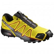 Chaussure Salomon SPEEDCROSS 4 CS pour Homme Jaune/Noir Chaussures De Running 383155