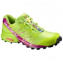 Chaussure Salomon SPEEDCROSS PRO W pour Femme Vert/rose Rouge Chaussures De Running 383190