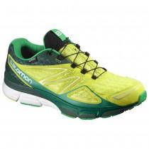 Chaussure Salomon X-SCREAM 3D GTX® pour Homme Jaune/Vert-foncé/Blanc/MediumMer-Vert Chaussures De Running 390275