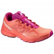 Chaussure Salomon SONIC PRO W pour Femme Rose/Orange Chaussures De Running 390315