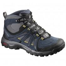 Chaussure Salomon EVASION MID GTX® pour Homme Noir/Bleu-foncé/Jaune Chaussures De Randonnée 390419