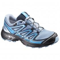 Chaussure Salomon WINGS FLYTE 2 GTX® W pour Femme Gris/Noir/Turquoise Chaussures De Running 390688
