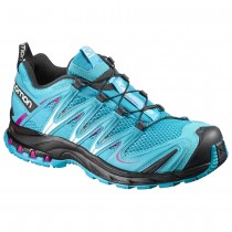 Chaussure Salomon XA PRO 3D W pour Femme Aqua/Noir/rose Rouge Chaussures De Running 390718