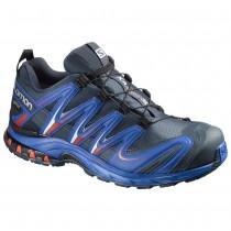 Chaussure Salomon XA PRO 3D GTX® pour Homme Noir/Royal-Bleu/Rouge Chaussures De Running 390720
