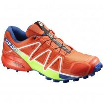 Chaussure Salomon SPEEDCROSS 4 pour Homme Rouge/Vert Chaussures De Running 390723