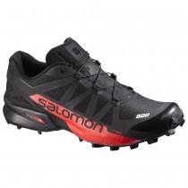 Chaussure Salomon S-LAB SPEEDCROSS pour Homme Noir/Rouge Chaussures De Running 391221_01