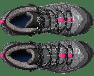 Chaussure Salomon X ULTRA MID 2 GTX® W pour Femme Gris/Noir/Rose Chaussures De Randonnée 371477