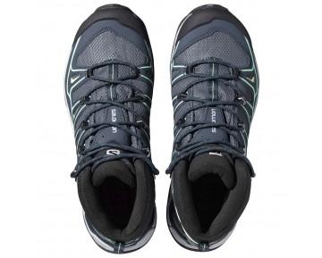 Chaussure Salomon X ULTRA MID 2 GTX® W pour Femme Bleu-Acier/Noir/Vert Chaussures De Randonnée 371524