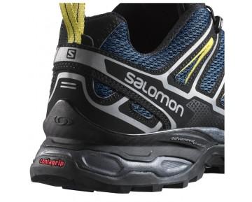 Chaussure Salomon X ULTRA 2 pour Homme Noir/Bleu-foncé/Argent/Jaune Chaussures De Randonnée 371613