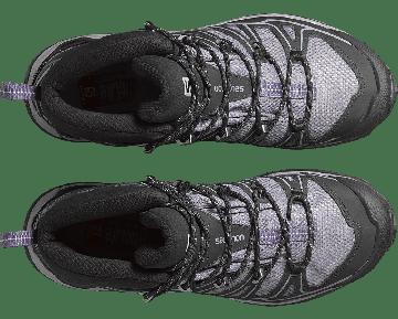 Chaussure Salomon X ULTRA MID 2 W SPIKES GTX® pour Femme Noir/Gris/Argent 377821